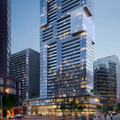 IMAGE: GWL Realty Advisors' The Livmore apartment tower in Toronto. (Courtesy GWL Realty Advisors)