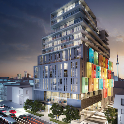 IMAGE: Greybrook Realty Partners and Tribute Communities are partners on several Toronto and GTA developments, including The College at Spadina. (Courtesy Greybrook)