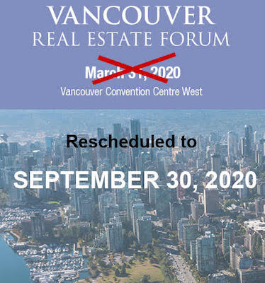 IMAGE: Informa Canada has rescheduled the Vancouver Real Estate Forum to September 30 due to precautions surrounding the COVID-19 virus outbreak.