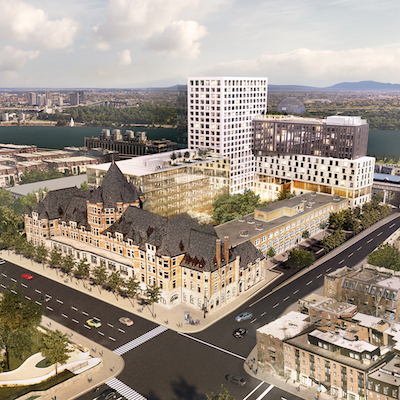 IMAGE: Jesta Group is adding a 1.2 million square foot mixed-use development at Montreal's historic Gare Viger. (Courtesy Jesta Group)