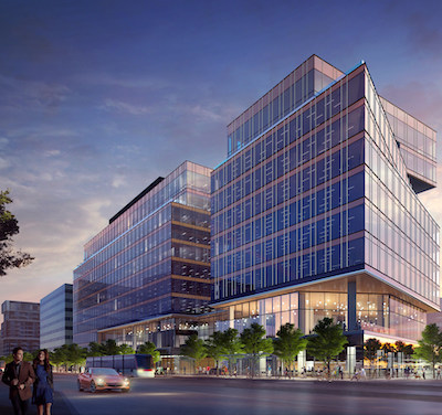IMAGE: The Waterfront Innovation Centre, currently under construction in downtown Toronto. (Courtesy Menkes Developments)