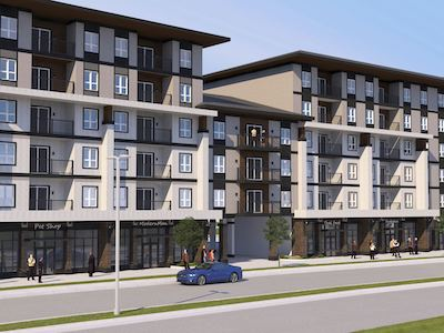 IMAGE: The 153-unit mixed-use Bravado at Bridgwater has just been launched by Winnipeg's Ironclad Developments. (Courtesy Ironclad)