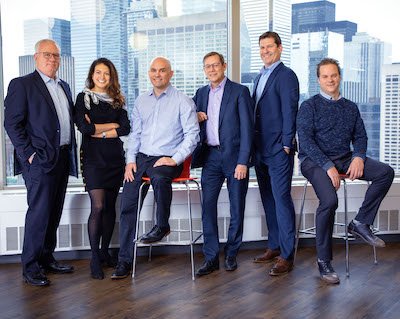 IMAGE: Crown Realty Partners' senior management team, from left: Crown team featuring Gary Summers, Emily Hanna, Scott Watson, Les Miller, Jamie Christie and Mark Dimmell. (Courtesy Crown Realty Partners)