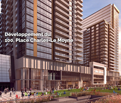 IMAGE: DevImco and the City of Longueuil have a memorandum of understanding for a $500-million apartment and condo development near the city's downtown. (Courtesy Devimco)