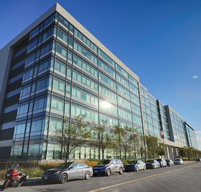 IMAGE: The 395 Terminal Ave. office complex in Ottawa's Train Yards area, which has been purchased by a BentallGreenOak fund. (Courtesy Cushman & Wakefield)