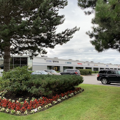 IMAGE: The Viking Way Business Centre has been acquired by PC Urban and KingSett Capital. The firms plan to redevelop the 9.7-acre property. (Courtesy PC Urban/Kingsett)