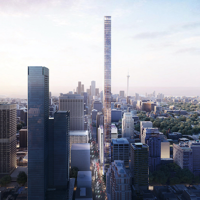 IMAGE: Dutch developers Kroonenberg Groep and ProWinko are planning an 87-storey, mixed-use high-rise at the downtown Toronto intersection of Bay and Bloor.