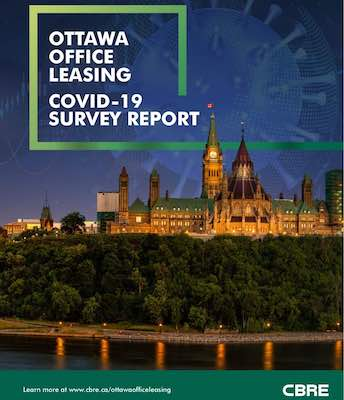 IMAGE: The CBRE Ottawa Office Leasing COVID-19 Survey Report contains findings from over 125 respondents, who utilize more than 1.5 million square feet of space in the city. (Courtesy CBRE)