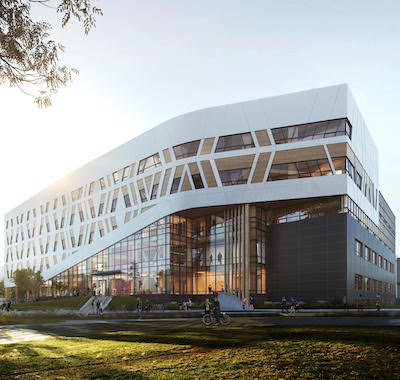 IMAGE: Centennial College in Toronto will construct a new, 138,000 square foot, net-zero carbon facility on its campus. (Courtesy DIALOG)