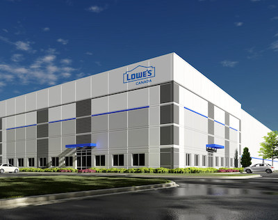 IMAGE: Highfield Investment Group will build a 1,230,000-square-foot distribution facility for Lowe's Canada in Rocky View County, north of Calgary. (Lowe's Canada)
