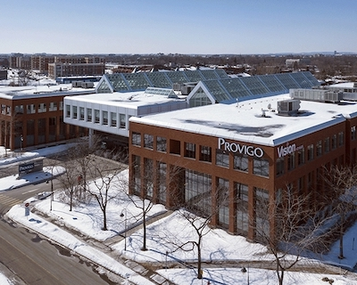 IMAGE: Montreal's Groupe Mach has purchased the former Loblaw office building at 400 Sainte-Croix in Greater Montreal. (Courtesy Groupe Mach)