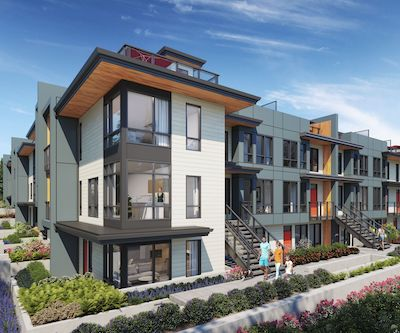 IMAGE: Duet in Coquitlams is being marketed and constructed by Adera Developments. (Courtesy Adera)