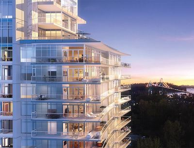 IMAGE: Denna Homes made a number of changes to its Sentinel condos project in West Vancouver, designed to make them more attractive to buyers. (Courtesy Denna Homes)