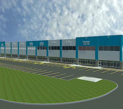 IMAGE: The first building of five to be constructed at the Plessis Business Park in Winnipeg. It's located in the much larger St. Boniface Industrial Park. (Courtesy Shindico)