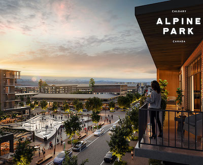 IMAGE: An artist's conception of the Village Centre at Calgary Alpine Park, a new Dream Unlimited development. (Courtesy Dream)