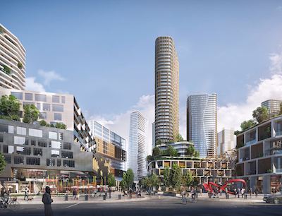 IMAGE: Artist's conception of the new, redeveloped and much more dense Coquitlam Centre downtown concept. (Courtesy City of Coquitlam)