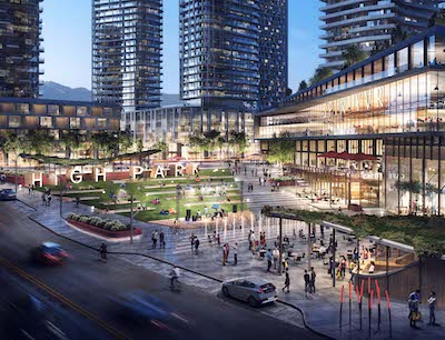 IMAGE: High Park square in Coquitlam is shown in this artist's conception. (Courtesy City of Coquitlam)