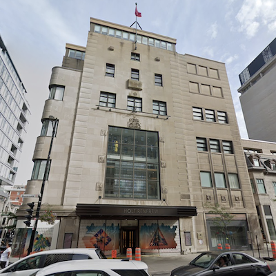 IMAGE: Groupe Quint is renovating the historic Holt Renfrew building at 1301 Sherbrooke St. West in Montreal. (Google Street View)