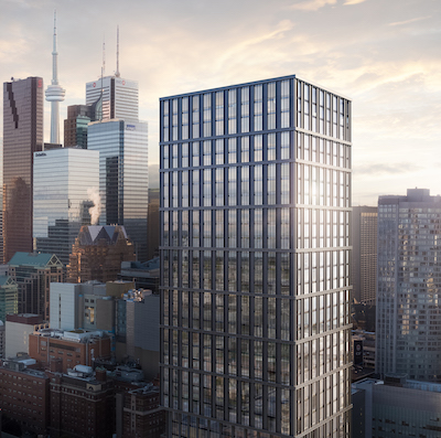 IMAGE: The 199 Church condos, being launched by CentreCourt and Parallax Corp., in downtown Toronto. (Courtesy CentreCourt)
