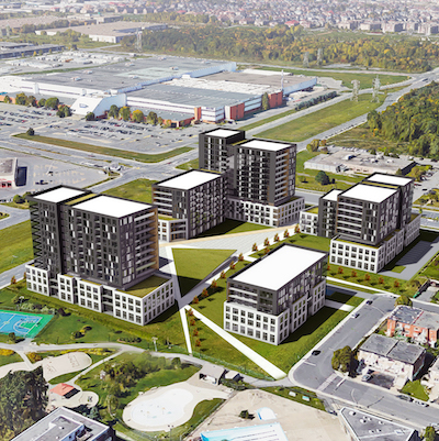 IMAGE: Trantor and Jadco Corp. are continuing their development of Équinoxe Marc Chagall, a luxury apartment development in the Montreal's Côte Saint-Luc. (Courtesy Trantor)