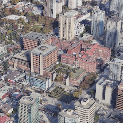 IMAGE: The $1B acquisition of the St. Paul's Hospital property in Vancouver is one of the RENX Top-10 Stories of 2020. (Google Street View)