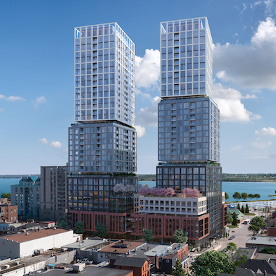 IMAGE: Developer Gary Silverberg plans to build the Début condo towers in downtown Barrie, Ont. (Courtesy Barrie Waterfront Developments)