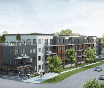 IMAGE: The Ferndale Gardens apartment complex in Barrie, Ont. (Courtesy PineMount)