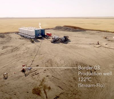 IMAGE: This image taken from video shows the DEEP Earth test drilling site in Saskatchewan. The firm plans a 100MW geothermal energy production facility, which would be the first in the province. (Courtesy DEEP Earth/Youtube)