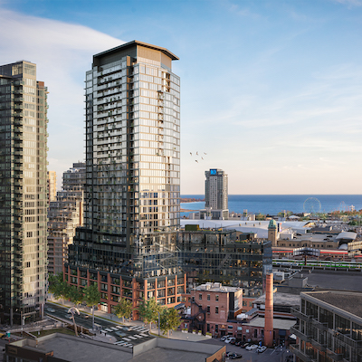 IMAGE: Liberty Market Tower is the third-and-final phase of Lifetime Developments' Liberty Village in Toronto. (Courtesy Lifetime Developments)