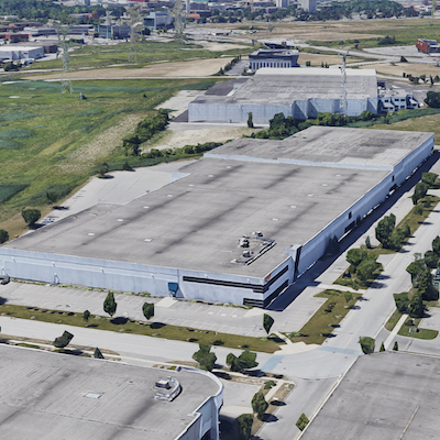 IMAGE: Summit Industrial Income REIT is acquiring this single-tenant warehouse at 123 Great Gulf Rd. in Vaughan, north of Toronto. (Google Street View)
