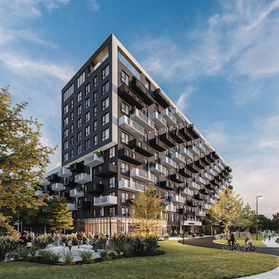 IMAGE: Montreal-based developer Maître Carré has debuted its new rental housing brand, Mellem, in Brossard, Que. (Courtesy Maître Carré)