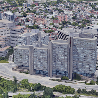 IMAGE: The federal government's Place du Portage office complex in Gatineau, across the Ottawa River from Ottawa. (Google Maps)