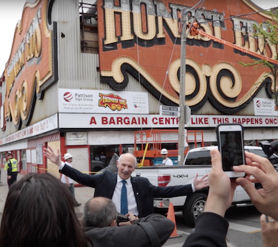 IMAGE: A screengrab from the trailer for the Ed Mirvish / Honest Ed's documentary There's No Place Like This, Anyplace.