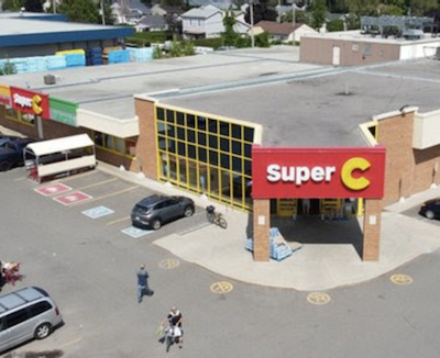 IMAGE: Fronsac REIT has acquired thhis Super C food store in Lavaltrie, Que. (Courtesy Fronsac)
