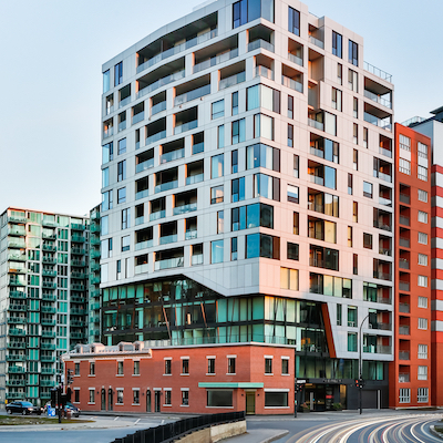 IMAGE: The Brickfields residential and office condos building in Montreal, by Maître Carré. (Courtesy Maître Carré)