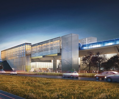 "IMAGE: Cadillac Fairview has just announced plans for a new ""downtown"" in the West Island district of Pointe-Claire, around a new REM station. (Courtesy CF)"