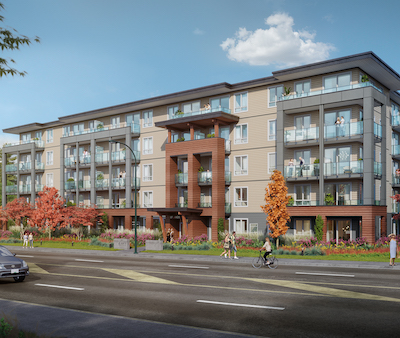 IMAGE: Denciti and Nicola Wealth are partnering to construct this apartment complex at 6117 Uplands Dr. in Nanaimo, B.C. (Courtesy Denciti, Nicola Wealth)