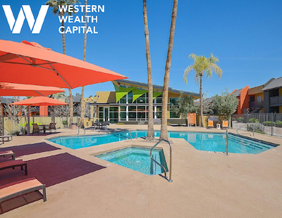 IMAGE: Western Wealth Capital has acquired the 659-unit Onnix apartment complex in Tempe, AZ. (Courtesy WWC)