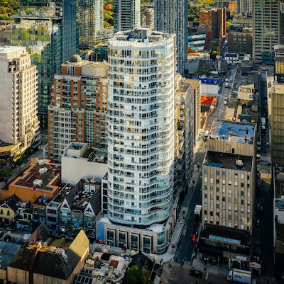 IMAGE: The Minto Yorkville Park condo in Toronto, where the builder has completed a pilot air tightness test to improve energy efficiency at this and other new builds. (Courtesy Minto)