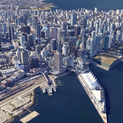 IMAGE: Larger tenants are starting to consider subleasing office space in Vancouver, panelists at the Vancouver Real Estate Forum said. (Google Maps)