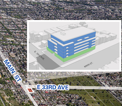IMAGE: This development site at Main and East 33rd in Vancouver led to a bidding war amongst five developers, according to Mark Goodman. (Courtesy Goodman Commercial RE)