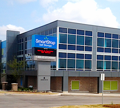 IMAGE: Strategic Storage Trust and SmartCentres REIT are partners on this Brampton, Ont. self-storage development. It will be branded as a SmartStop facility. (Courtesy Strategic Storage Trust)