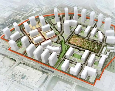 IMAGE: This conceptual plan shows a proposed future layout for the Smartcentre Cambridge shipping centre redevelopment. (Courtesy SmartCentres REIT)