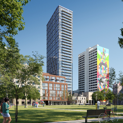 IMAGE: JAC Condos, at the corner of Jarvis and Carlton streets, is a joint venture between Graywood and Phantom Developments. (Courtesy Graywood)