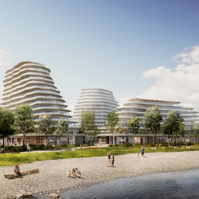 IMAGE: The Brightwater mixed-use community in Mississauga is being developed by Port Credit West Village Partners, a team up that includes Kilmer Group, DiamondCorp, Dream Unlimited and FRAM + Slokker. (Courtesy Port Credit West Village Partners)