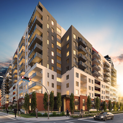 IMAGE: Urbania haus is the latest residential building at the Urbania development in Laval, in Greater Montreal. (Courtesy Urbania Development)
