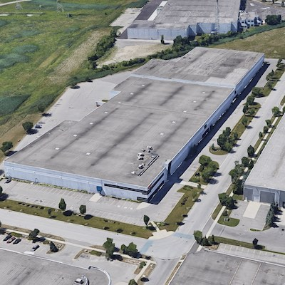 IMAGE: This quarter-million square foot distribution facility at 123 Great Gulf Dr., in Vaughan, northeast of Toronto, is one of Summit Indistrial Income REIT's 2020 acquisitions. (Google Maps)
