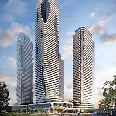 IMAGE: An artist's rendering of the Festival condos property, which will be constructed by Quadreal and Menkes at the Vaughan Metropolitan Centre. (Courtesy Menkes)