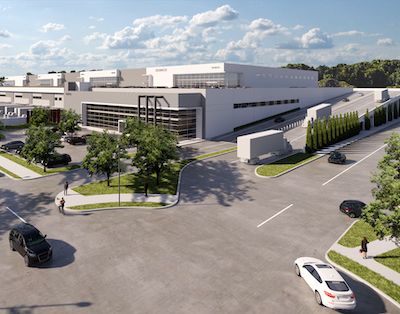 IMAGE: Oxford Properties has kicked off construction of this multi-storey industrial development in Burnaby, the first such facility announced in Canada. (Courtesy Oxford)