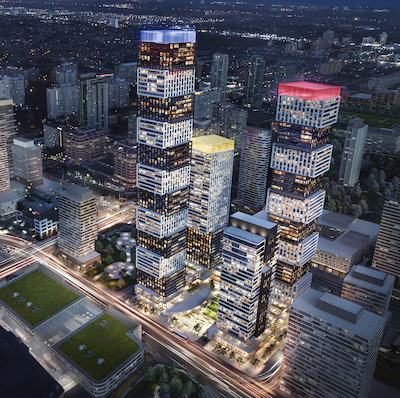 IMAGE: The Exchange District in Mississauga will be a multi-phased, mixed-use development by Camrost Felcorp. (Courtesy Camrost Felcorp)